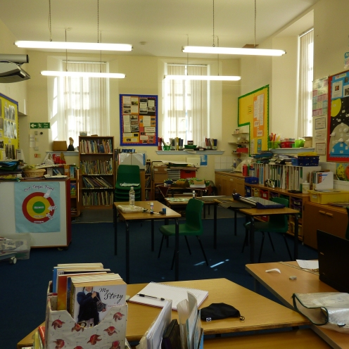 This is the class room where everyone works no matter what year they are.