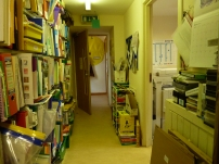 Through the nursery in the corridor and right is the office.