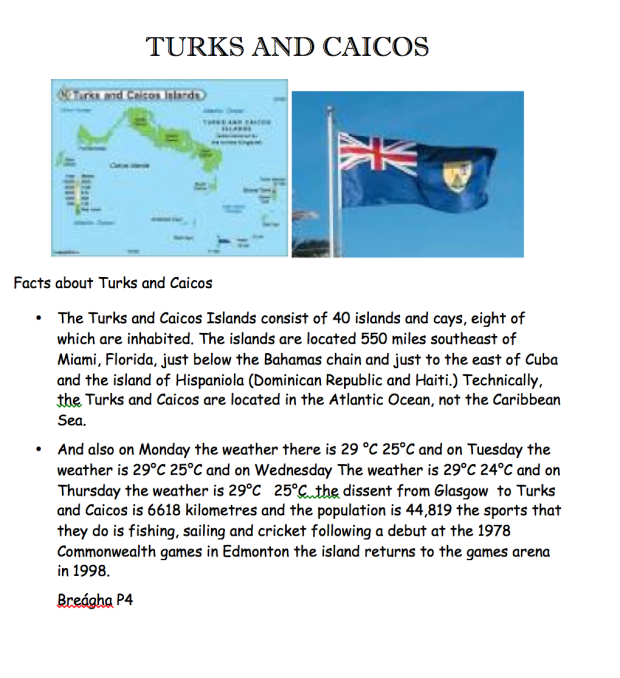 Poster Turks and Caicos